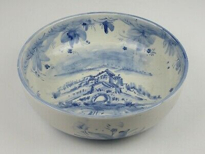 Albisola Liguria Vintage Vase Trash Can Centerpieces Ceramics Painted Xx Century