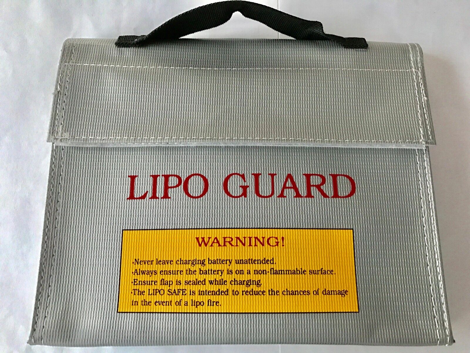 Lipo Safe Bag Feuer Schutz Tasche 21,5x16,5x4,5cm Charge Pack Li-Po Sicherheit