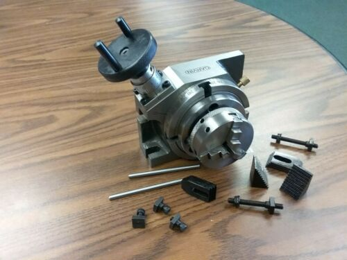 "4"" HORIZONTAL & VERTICAL ROTARY TABLE w. 3""/65mm 3-jaw centering chuck TTSL100CK"