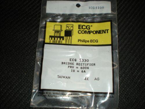 ECG5330 600V 6A BRIDGE RECTIFIER REPL NTE5330