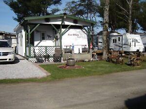 Roulotte 29pieds stationnaire au (Camping Pionnier à Gracefield)