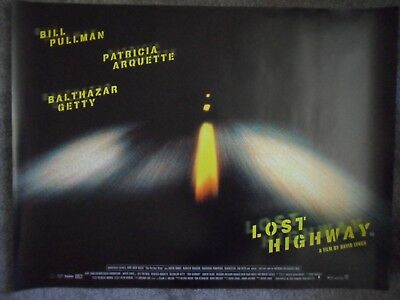 MINT condition - LOST HIGHWAY - DAVID LYNCH - Original UK Quad D/S Cinema Poster