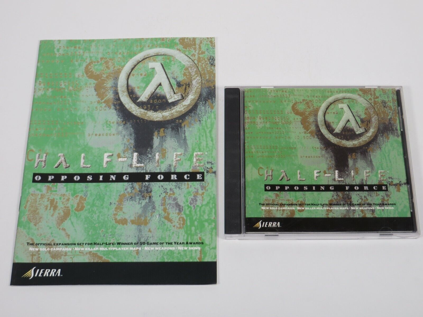 Computer Games - Half-life: Opposing Force (PC, 1999) PC Vintage Computer Game Sierra