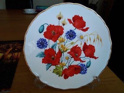 Royal Albert Collectors Plate Ltd Edition Cornfield Poppies Jo hague