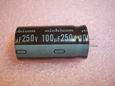 Qty 10 100uf 250v 105 Radial Electrolytic Capacitors Upr2e101mhh1ca Nichicon