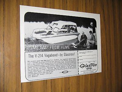 1968 Print Ad Glastron V-214 Vagabond Boats Austin,Texas