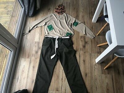 Scarecrow Halloween Costume Homemade ( Men's Homemade SCARECROW book day costume WIZARD OF OZ Handmade size)
