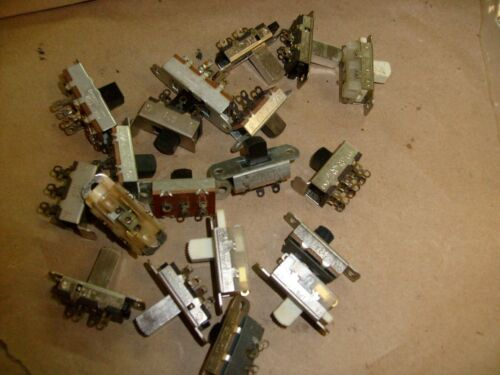 18 lot Mixed w/ Stackpole DPDT Center On/Off Slide Switch 125V AC 3 Amp + Others