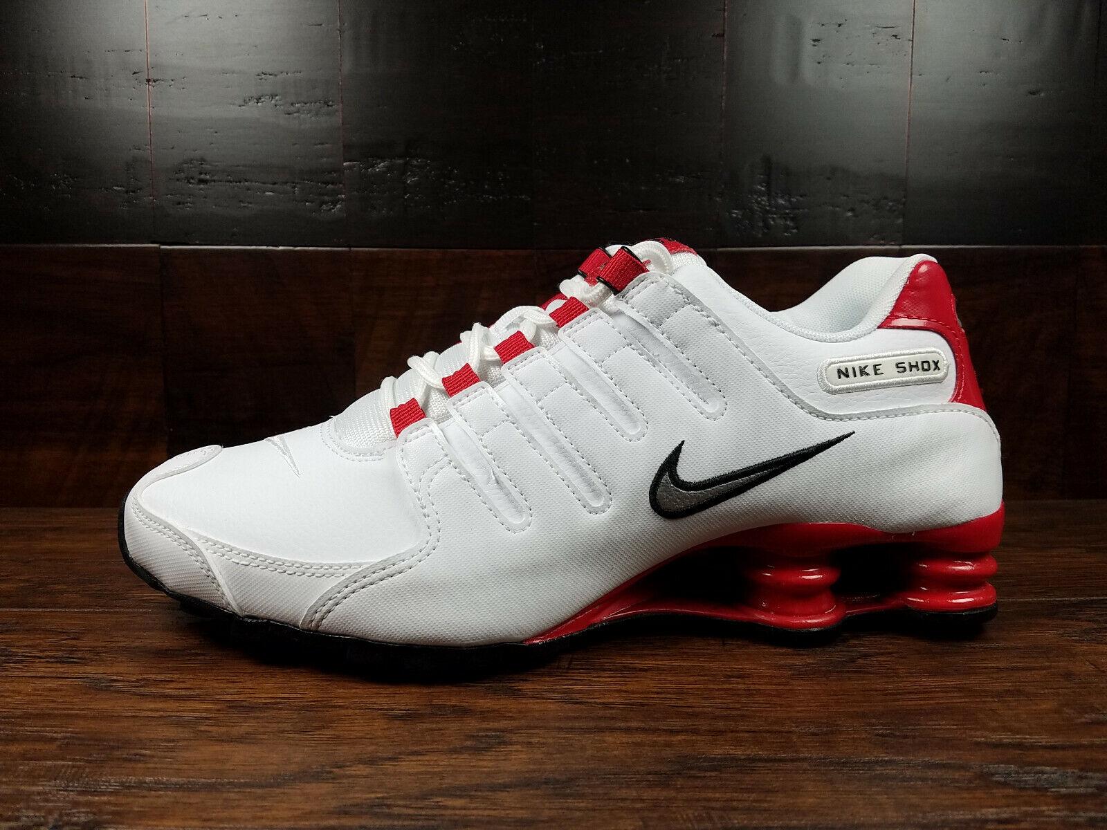 new concept f50cb 4fc4a Nike SHOX NZ EU (White / Metallic Silver / Uni Red) NSW [378341-110] Mens  7-14