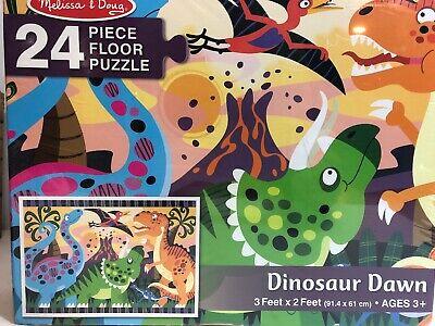 Melissa and Doug Dinosaur Dawn Floor Puzzle #4425 24 Pieces NEW Melissa & Doug Toys Dinosaur Floor Puzzle