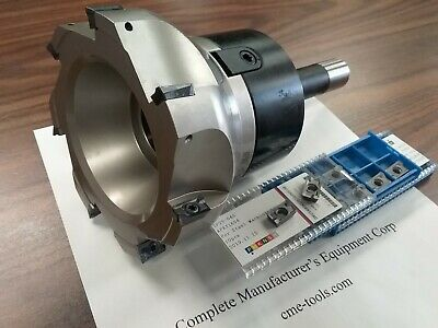 5 90 Degree Indexable Face Shell Mill 20 Extra Apkt1604 Inserts W. R8 Arbor