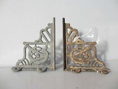 Vintage Iron Cistern Shelf Brackets Holders Shelve Old Antique Art Nouveau Lady
