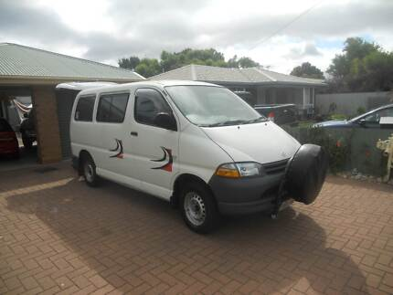 toyota hi ace  van with  tail lifter   PETROL/GAS Port Willunga Morphett Vale Area Preview
