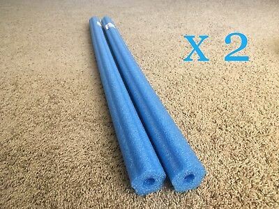 """2  Blue Pool Noodle 47"""" swimming water foam, craft, fishing & therapy"""