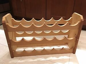 18 Bottle Wooden Wine Rack