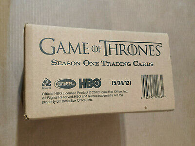 Game of Thrones Season 1 Rittenhouse Trading Cards Sealed Case of 12