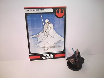 Star Wars Miniatures - Obi-Wan Kenobi 1/6 + Card - Rare - Starter Set