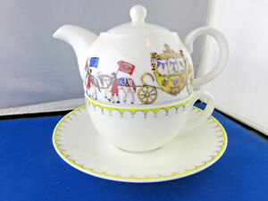 ROYAL TEA PARTY,  TEA FOR ONE, by ROY KIRKHAM, Fine Bone China, Made in England.