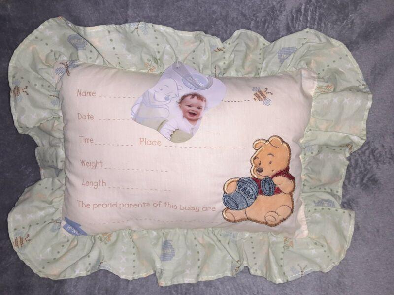 Classic Keepsake Pillow Winnie the Pooh Baby Nursery Birth Announcement Disney