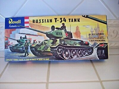 """VINTAGE """"1958"""" Revell T-34 WWII Russian Tank Model Kit - Factory Sealed Parts for sale  Phoenix"""
