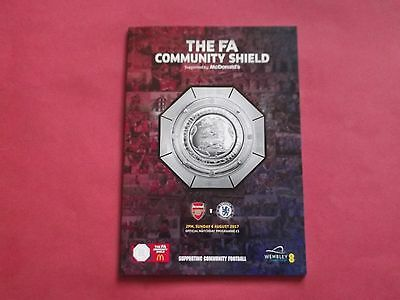 ARSENAL V CHELSEA 2017 COMMUNITY SHIELD  OFFICIAL PROGRAMME