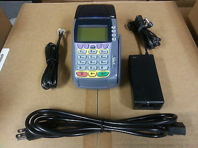 Verifone Omni 3740 Credit Card Terminal - Complete Set W Warranty - 3750 3730