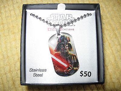 STAR WARS DARTH VADER STAINLESS STEEL NECKLACE....Retail 50.00