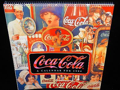 COKE COCA-COLA 1994 CALENDAR NOSTALGIA ADS FROM 1900s Never Used MINT CONDITION