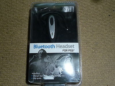 PLAYSTATION 3 PS3 WIRELESS BLUETOOTH HEADSET MICROPHONE + USB CHARGER BRAND NEW!