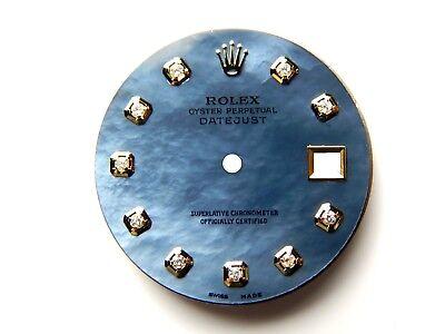 2 Tone Pan - Men's Rolex Datejust 2Tone Non-Quickset Pie Pan  Tahitian MOP with Diamond Dial