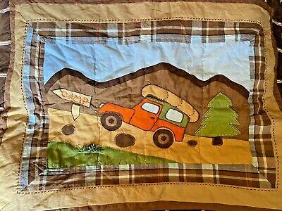 """3 WOOLRICH Kids Big Bear & Camp Standard Size Pillow Shams 26"""" x 20"""" Quilted A1U"""