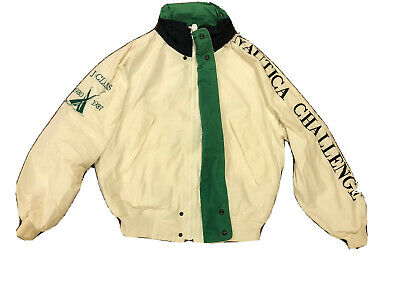 Rare Vintage NAUTICA Challenge Spell Out Sleeve J-Class Sailing Jacket 90s SZ M