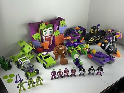 Fisher Price Imaginext Lot of 10 Figures DC Comics - Batman Villains Clay Face