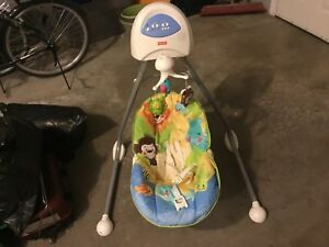 New Price-Battery operated Fisher Price baby swing