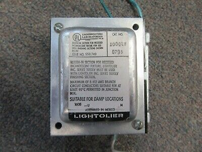 Lightolier Low Voltage Lighting Transformer 1000lv