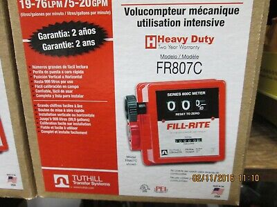 Fill-rite -tuthill- Fr807c - 34 - 5-20 Gpm Heavy Duty Mech. Fuel Gas Meter