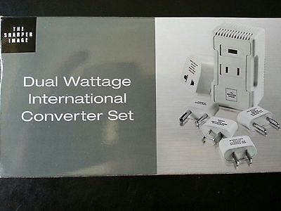 New Sharper Image Dual Wattage International Converter Fz508 220V To 110V W Case