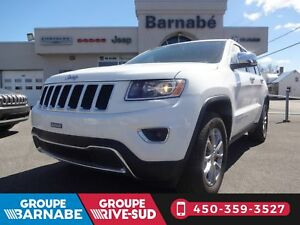 Jeep Grand Cherokee 4X4 Limited 2016 + CAMÉRA + TOIT + SIÈGES CH