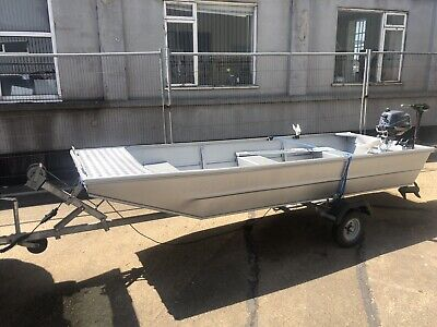 Seastrike 12ft Flat Bottom Aluminium Fishing/Day Boat Package