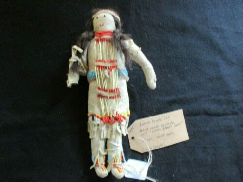 NATIVE AMERICAN BEADED LEATHER DOLL,  AUTHENTIC SOUTH DAKOTA DOLL  SD-0821*05727