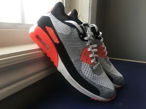 Nike Air Max 90 Ultra 2.0 Flyknit OG Infrared Red DS Size 9