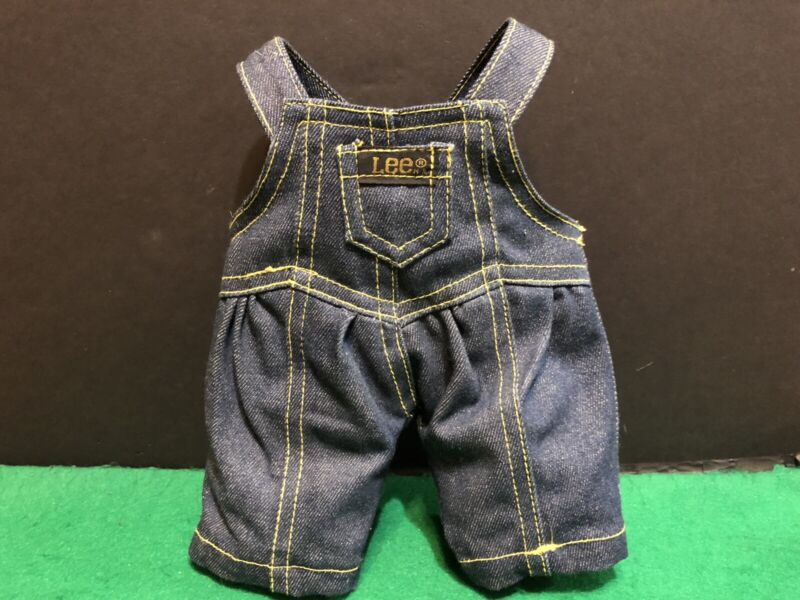 Vintage Lee Blue Jeans Overalls Doll Teddy Bear Advertising Clothes 10 inches