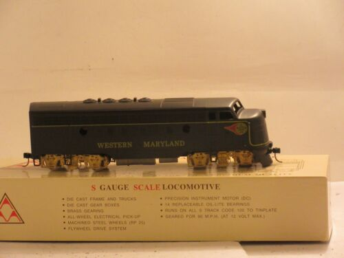 Western Maryland S Scale F Type Diesel Locomotive