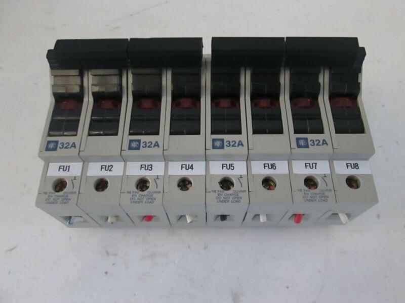 Telemecanique Fuse Holder GK1-DD, Used Lot of 8