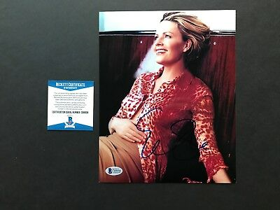 Elisabeth Shue Sexy  Signed Autographed 8X10 Photo Beckett Bas Cert
