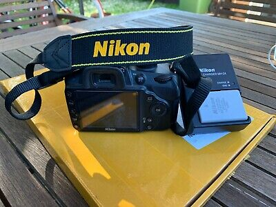 Nikon D D3200 24.2MP Digital SLR Camera AF-S DX VR 18-55mm Lens - Black