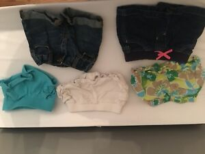 12 month shorts, 5 pairs