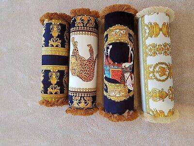 Bolster Cylinder Cushion Velvet Versace Baroque Style Cushion