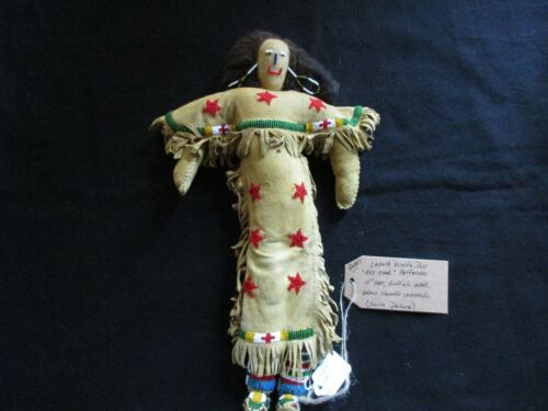 NATIVE AMERICAN BEADED LEATHER DOLL,  AUTHENTIC SOUTH DAKOTA DOLL  SD-0821*05724