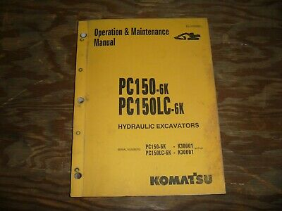 Komatsu Pc150-6k Pc150lc-6k Crawler Excavator Owner Operator Maintenance Manual